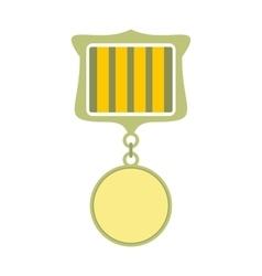 Medal award military flat icon vector image