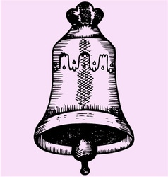 old church bell vector image vector image