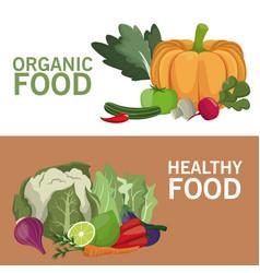 organic food healthy nutrition brochure vector image