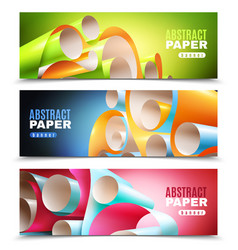 Paper roll banners set vector