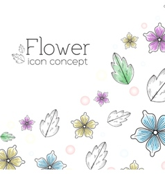 retro flower background concept vector image vector image