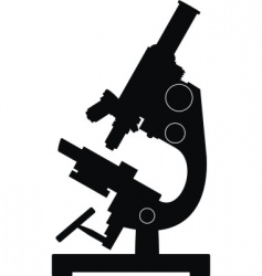 silhouette of microscope vector image