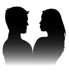 silhouettes of men and women vector image vector image