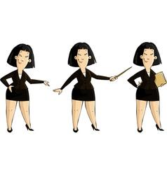 Three girls vector image vector image
