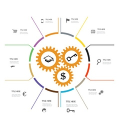 Business infographic working vector image