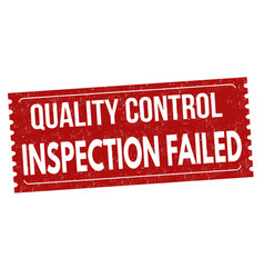 inspection failed grunge rubber stamp vector image vector image