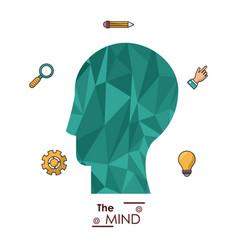 mind human head abstract creative idea vector image vector image