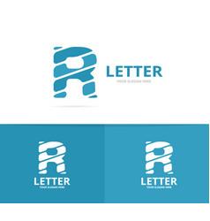 unique letter r logo design template vector image