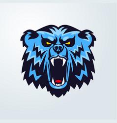 bear head logo mascot emblem vector image vector image