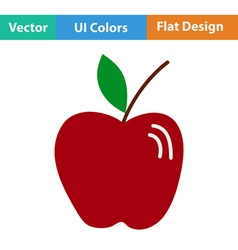 Flat design icon of Apple vector image