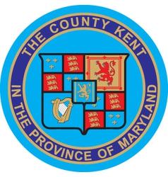 Kent County vector image vector image