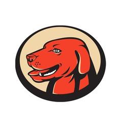 labrador golden retriever dog head vector image vector image