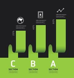 Modern infographics design options banner vector image vector image