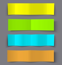 Set of Bended Paper Colorful Banners with shadows vector image vector image