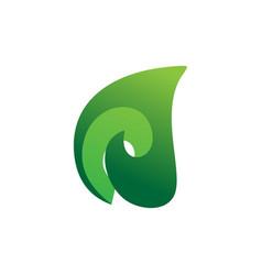 3d leaf nature logo vector image