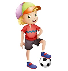 A young soccer player vector image