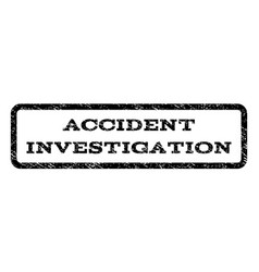 Accident investigation watermark stamp vector