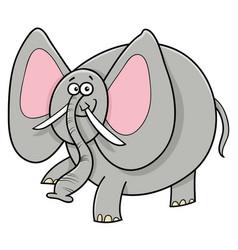 african elephant animal cartoon character vector image vector image