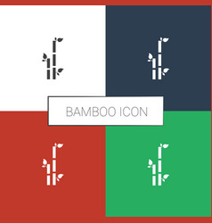 Bamboo icon white background vector