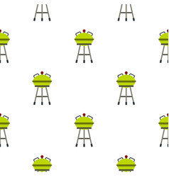 Barbecue grill pattern flat vector
