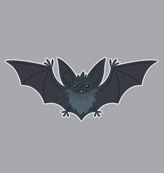 Bat flying of bat-eared grey vector