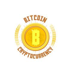 bitcoin bage digital money blockchain finance vector image