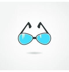 blue glasses vector image