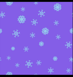 blue snowflakes on a purple background seamless vector image
