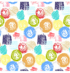 bright pattern with grunge squares and circles vector image