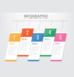 business infographic element timeline option vector image
