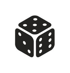 casino dice in isometric view simple black icon vector image