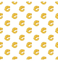 Cent currency symbol pattern cartoon style vector image