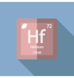 Chemical element Hafnium Flat vector image