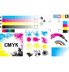 CMYK Concept Set vector