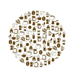 Coffee icon in circle vector