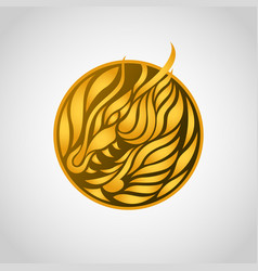 dragon logo icon design vector image