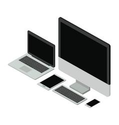 electornics elements isometrics icons vector image