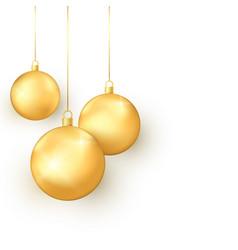 elegance golden christmas toys set colorful vector image