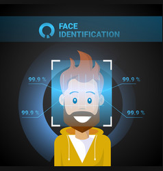 Face identification male scanning modern access vector