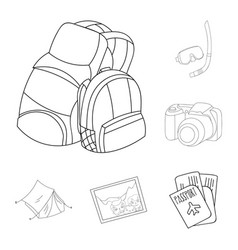 family holiday outline icons in set collection for vector image