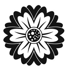 Flower icon simple style vector