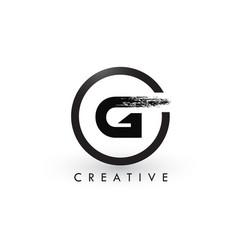 g brush letter logo design creative brushed vector image