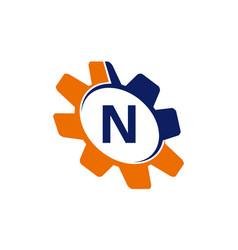 gear initial n vector image