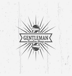 gentleman barber shop vintage emblems vector image