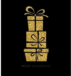 Gift box Christmas card vector
