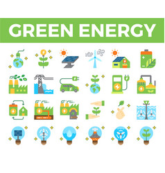 green energy and ecology flat icon vector image