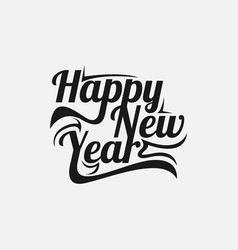 happy new year word art text calligraphic vector image