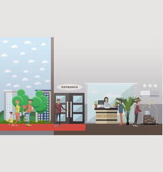 hotel reception concept in vector image
