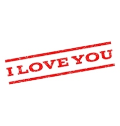 I Love You Watermark Stamp vector