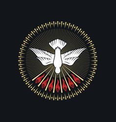 Image a dove - a symbol holy spirit vector